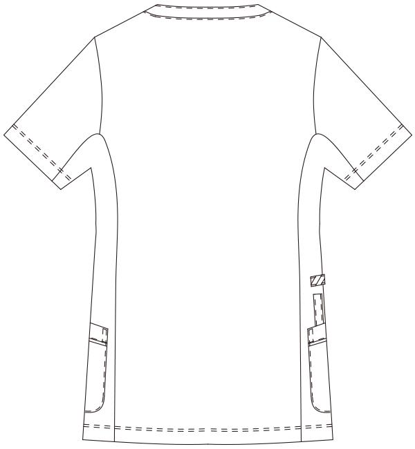 981 レディススクラブジャケット半袖バックスタイル