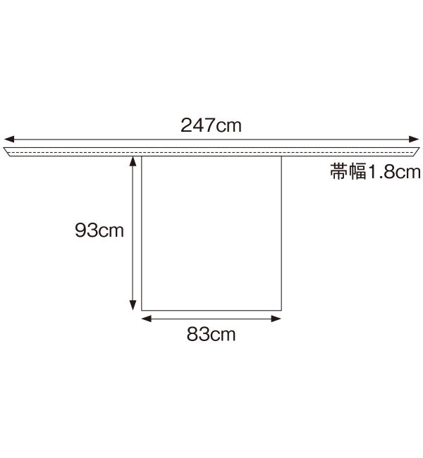 APK3171 腰下エプロンサイズ表