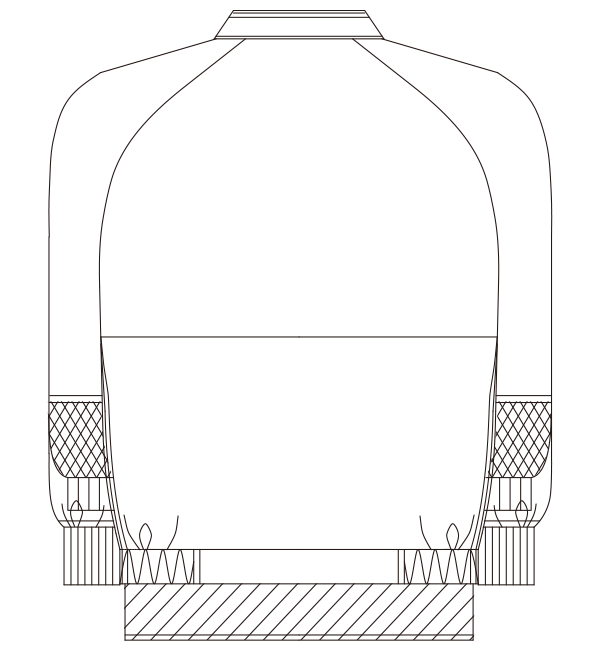 KZN407 バックスタイルイラスト