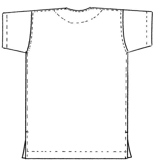 REP136 男女兼用スクラブ半袖バックスタイル