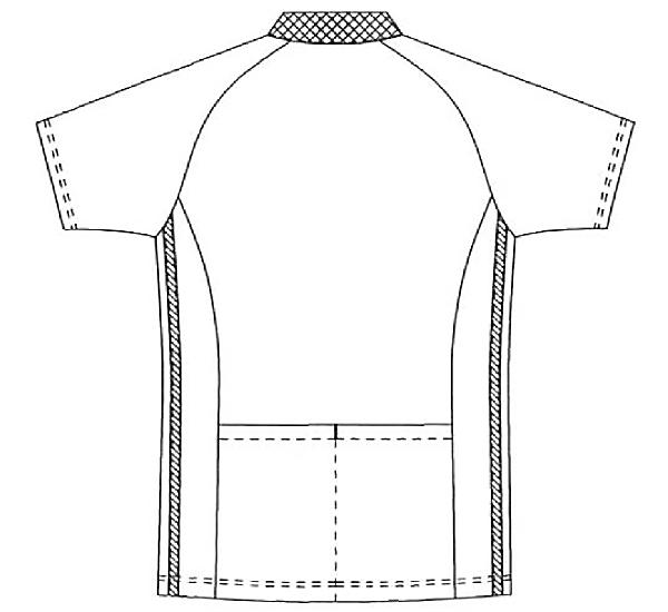 SCS733 アディダス男女兼用ポロシャツ半袖バック