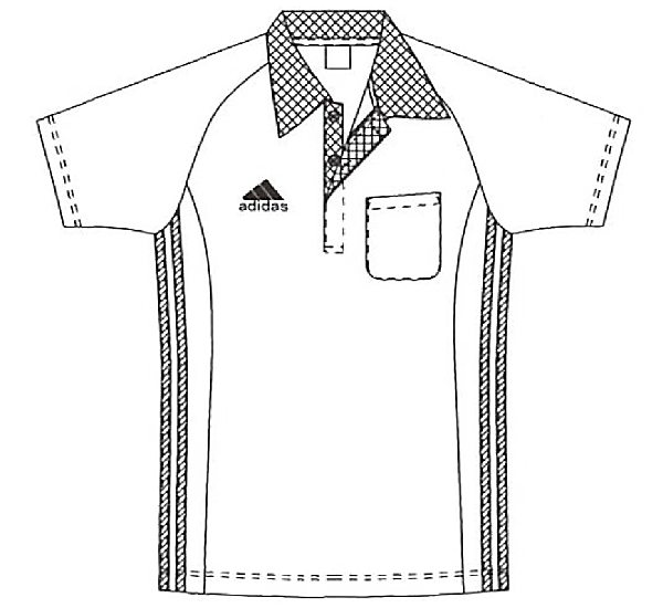 SCS733 アディダス男女兼用ポロシャツ半袖フロント