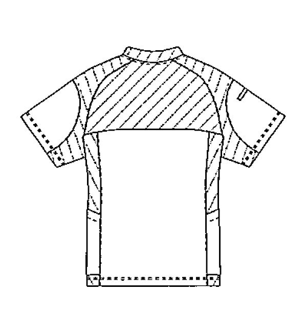 SMS120 アディダス男女兼用ジャケット半袖バックスタイル
