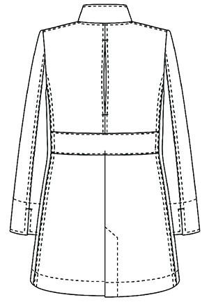SMS203 アディダスレディスドクターハーフコートバック長袖