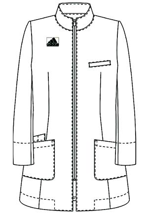SMS203 アディダスレディスドクターハーフコートフロント長袖
