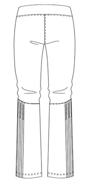 SMS401 アディダスレディスパンツバックスタイル