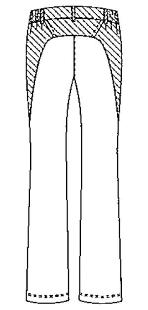 SMS402 アディダスレディスパンツバックスタイル