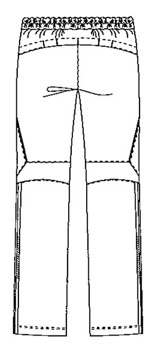 SMS502 アディダスメンズパンツバックスタイル
