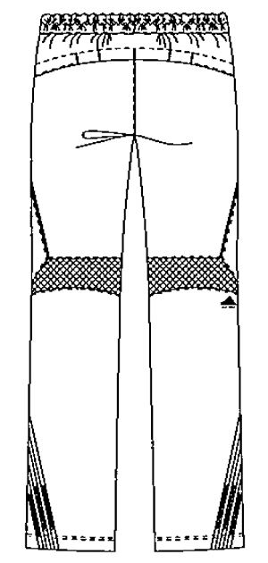 SMS505 アディダスメンズパンツバックスタイル