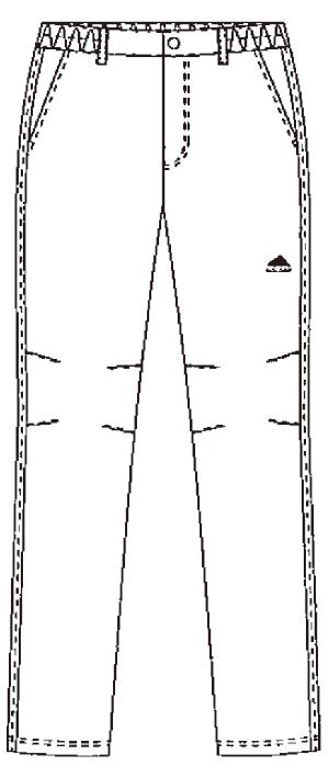 SMS508 アディダスメンズパンツフロントスタイル