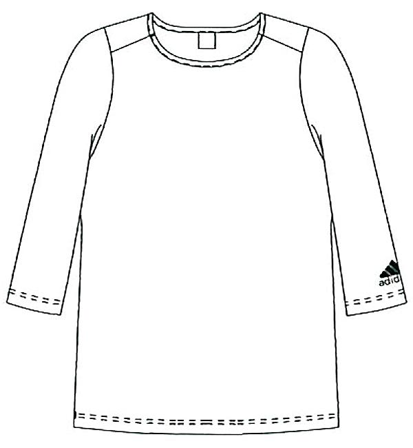SMS900 アディダス男女兼用インナーTシャツフロント