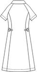 049 ソフトトリコットワンピース半袖バックスタイル