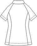 069-28 アレニエレディスジャケット半袖バックスタイル