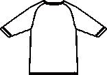 233-05 男女兼用インナーTシャツバックスタイルイラスト