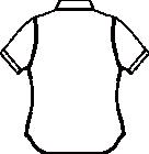 AP232 男女兼用ルーズフィットニットシャツ半袖バックスタイル