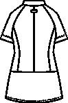 CIS410 レディスジャケット半袖バックスタイル