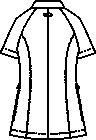 CIS420 レディスジャケット半袖バックスタイル