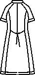 CIS600 ワンピース半袖バックスタイル