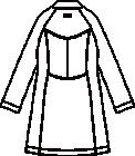 CMA101-C/10 レディス診察衣長袖バックスタイル