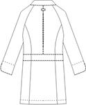 CMA102-C/10 レディス診察衣七分袖バックスタイル