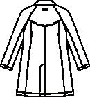 CMA210-C/10 メンズ診察衣長袖バックスタイル