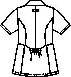 CSP400-C/20 レデイスジャケット半袖バックスタイル
