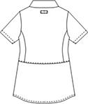 CSP401-C/20 レディスジャケット半袖バックスタイル