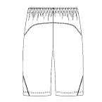 SCS702 アディダス男女兼用ショートパンツバックスタイル