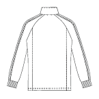 SCS703 アディダス男女兼用ジャケット長袖バックスタイル
