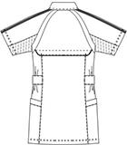 SMS003 アディダスレディスジャケット半袖バックスタイル