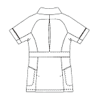 SMS505 アディダスレディスジャケット半袖バックスタイル