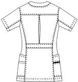 SMS008 アディダスレディススクラブ半袖バックスタイル