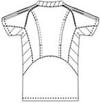 SMS111 アディダス男女兼用スクラブ半袖バックスタイル