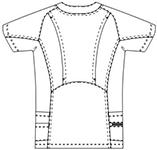 SMS118 アディダスメンズスクラブ半袖バックスタイル