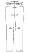SMS505 アディダスレディスパンツバックスタイル