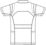 SMS620 アディダスメンズジャケット半袖バックスタイル