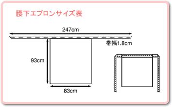 AP3171 腰下エプロンサイズ表