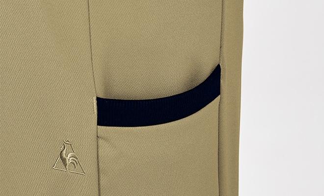 後ろとサイドにポケットを設け、女性らしいシルエットを損なわず収納力をアップ。