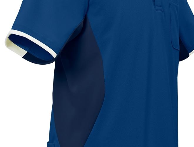 同系色の杢素材と無地素材を切り替え、スマート感をプラス。