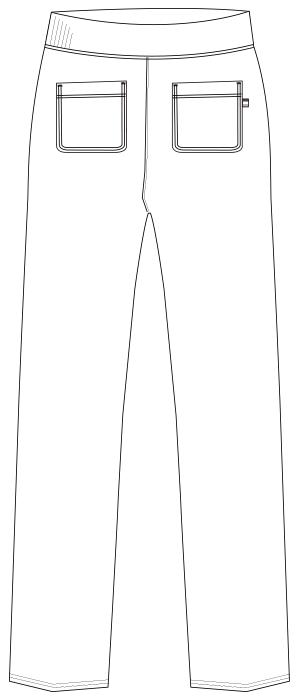 UZL2041 バックスタイルイラスト