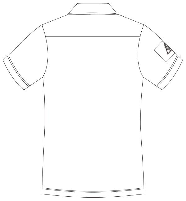 UZL3064 バックスタイルイラスト