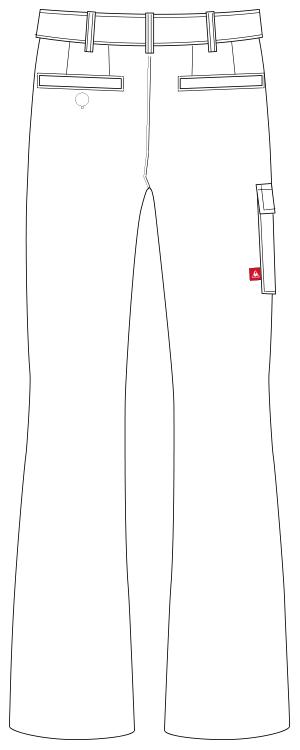 UZL4024 バックスタイルイラスト