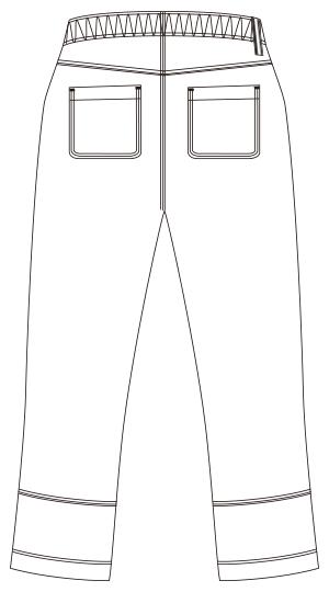 UZL4041 バックスタイルイラスト