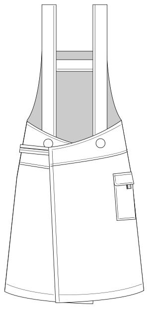 UZL7011 バックスタイルイラスト