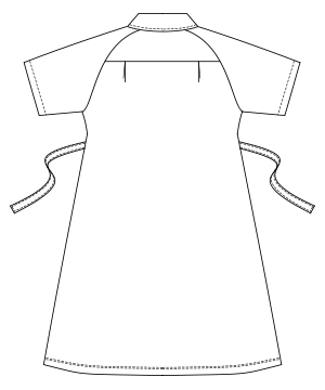 UQW0016 バックスタイルイラスト