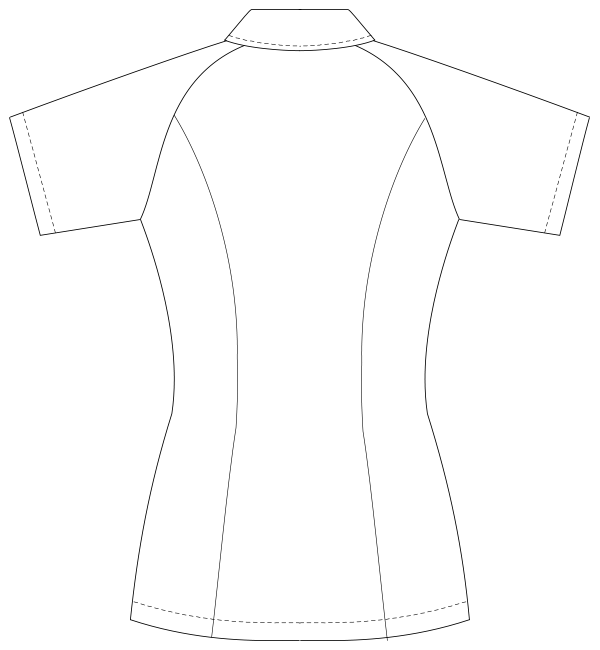 UQW1015 バックスタイルイラスト