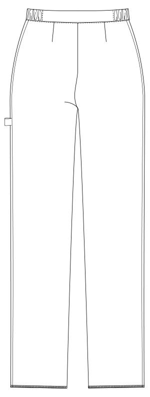 UQW2028 バックスタイルイラスト