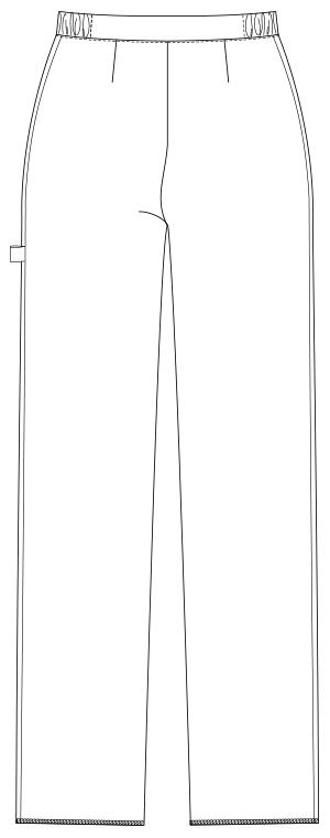UQW2029 バックスタイルイラスト