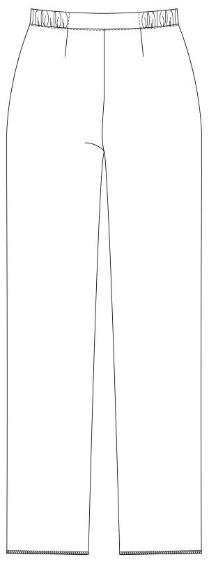 UQW2037 バックスタイルイラスト