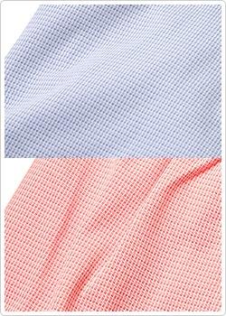 色糸と白糸を格子状に織り合わせたような、ミックス感がやわらかな風合い
